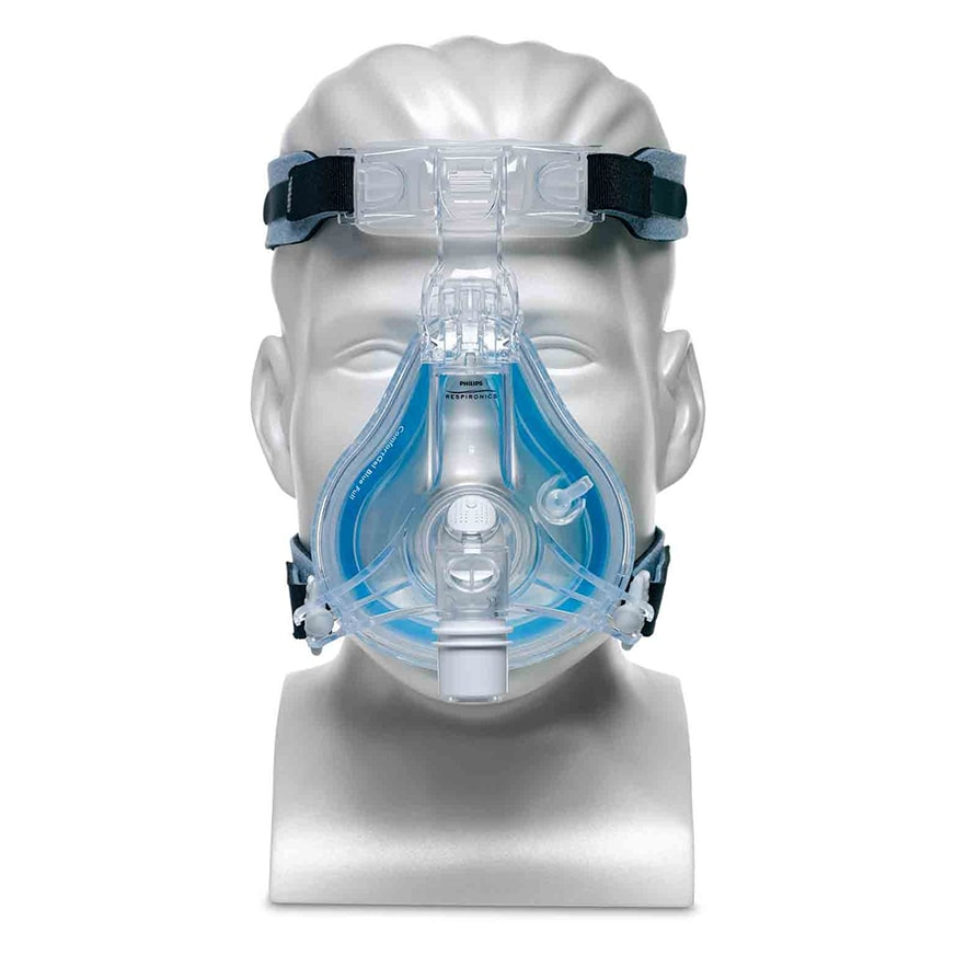 Philips Respironics ComfortGel Blue Full Face CPAP Mask with Headgear front